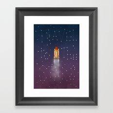 Travel to the Stars Framed Art Print