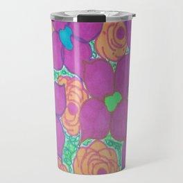 Bold Summer Flowers Travel Mug