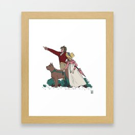 Marianne & Willoughby A Stroll with a Dog Framed Art Print