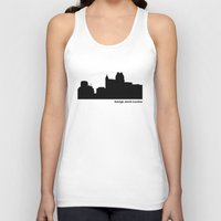 north carolina Tank Tops featuring Ralleigh, North Carolina by Fabian Bross