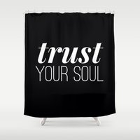 soul Shower Curtains featuring SOUL by REASONandRHYME