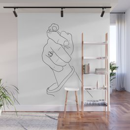 Alas, poor Sparrow!   Black on White Wall Mural