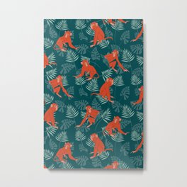 Monkey Forest Metal Print