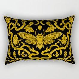 Cicada Oak Damask Rectangular Pillow