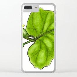 Cucumber Blooms Clear iPhone Case