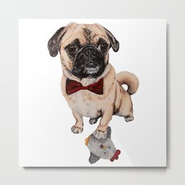 Rupert the Pug Metal Print