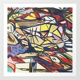 Abstract 1 by Greg Phillips Art Print