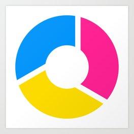 Pansexal Pride Flag Circle Art Print