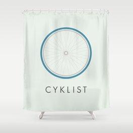 Cyklist Shower Curtain