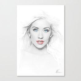 Christina Aguilera - Pop Art Canvas Print