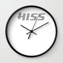 Hiss Black And White Wall Clock