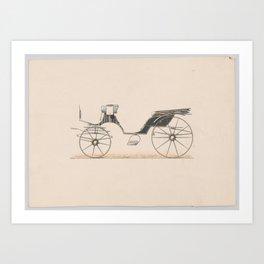 Design for Cabriolet Carriage,ca. 1880 Art Print