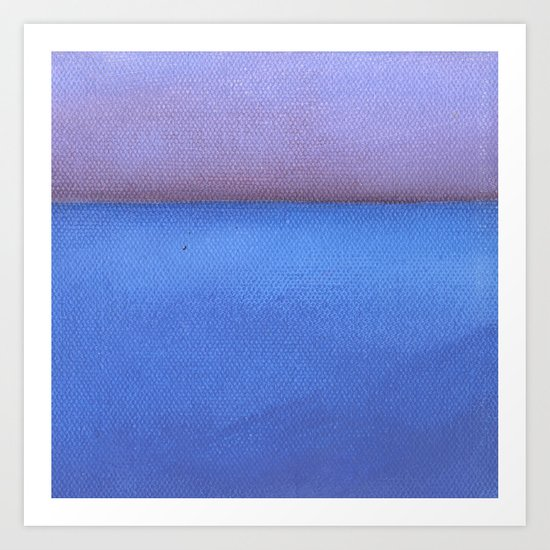 Blue sea Purple sky Art Print