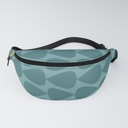 Plectrum Pattern in Teal and Turquoise Monochrome Fanny Pack