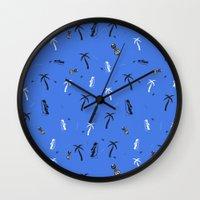tiki Wall Clocks featuring Tiki - Tū by .eg.