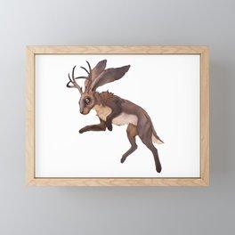 Brown Jackalope Framed Mini Art Print
