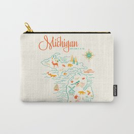 Michigan State Love  Carry-All Pouch