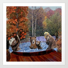 Hot Tub Party Art Print