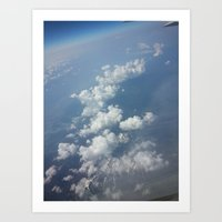 Cotton-covered Mountains Art Print