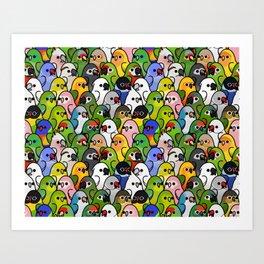 Too Many Birds!™ Bird Squad 2 Art Print