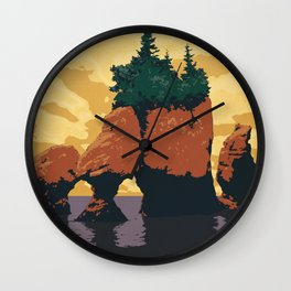 Hopewell Rocks Poster Wall Clock
