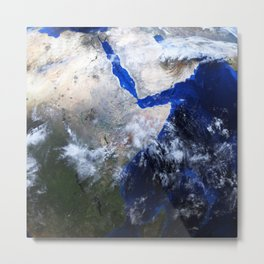 Realistic beautiful planet Earth from deep space Metal Print