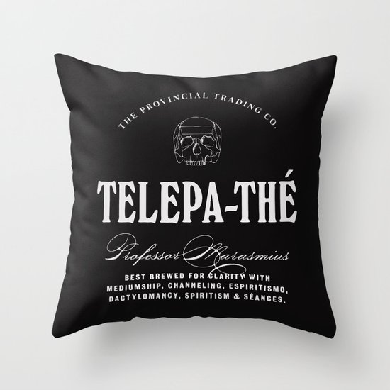 TELEPA-THÉ Throw Pillow