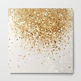 Sparkling Gold Glitter Glam #2 #shiny #decor #art #society6 Metal Print