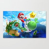 yoshi Canvas Prints featuring yoshi by Just Be Love