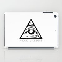 all seeing eye iPad Cases featuring ALL SEEING EYE  by ANOMIC DESIGNS