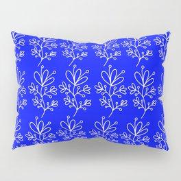 Blue Floral Print Pillow Sham