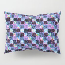 Multicolored Purple and Blue Patchwork Pillow Sham
