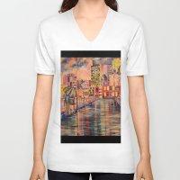 minneapolis V-neck T-shirts featuring Minneapolis  by Kali Koltz