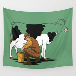 Milk of cow vaquinha Wall Tapestry