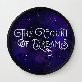 The Court of Dreams - A Court of Mist and Fury by Sarah J. Maas Wall Clock