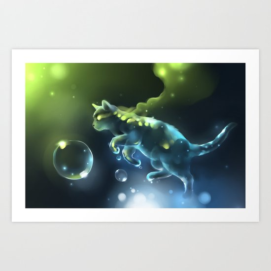 Aqua Apparition Art Print