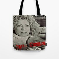 river song Tote Bags featuring River Song; Hello Sweetie. by Art Corner