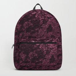 Deep Burgundy wine velvet Backpack