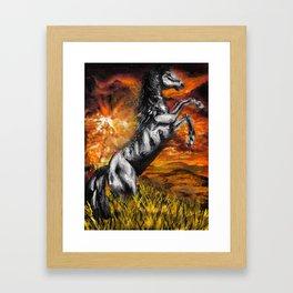 It's always sunny in philadelphia, charlie kelly horse shirt, black stallion Framed Art Print