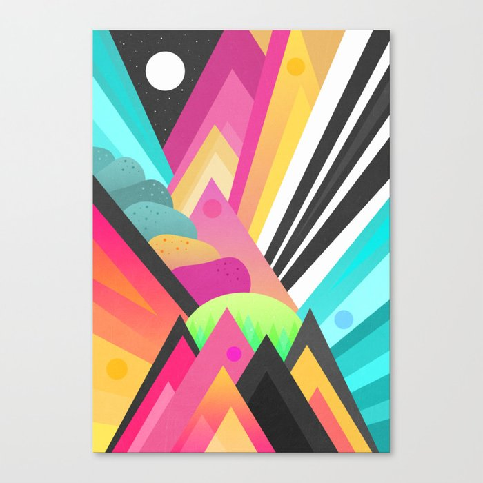 Space Garden Canvas Print
