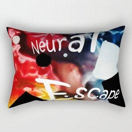 Neural Escape Rectangular Pillow