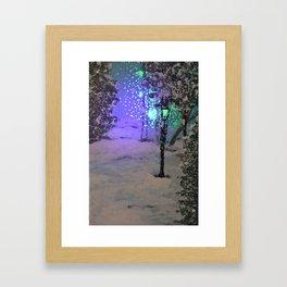 Lantern in the forest Framed Art Print