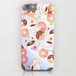 Coffee and Doughnuts En L'air iPhone Case