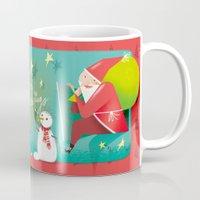 calendar Mugs featuring Christmas Calendar by Lorenzo Sabbatini