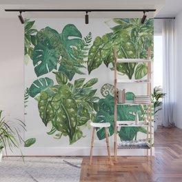 A Pattern of Boho Plants Wall Mural