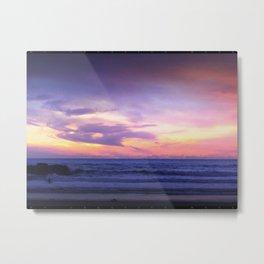 Sleepy Sunset Waves Goodnight Metal Print