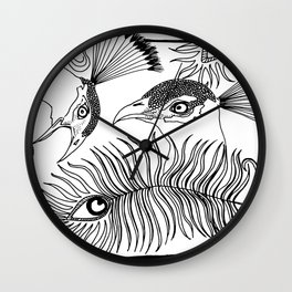 Peacocks and feathers Wall Clock