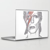 bowie Laptop & iPad Skins featuring Bowie by S. L. Fina