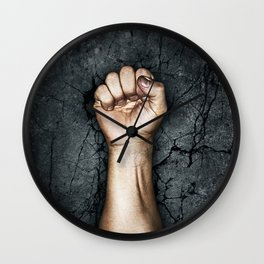 Protest fist Wall Clock