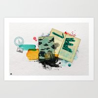 moscow Art Prints featuring Moscow by Hande Unver